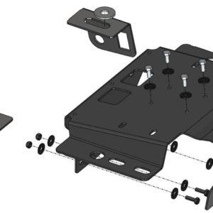 Kit montaj compresor ARB Jeep Wrangler JK